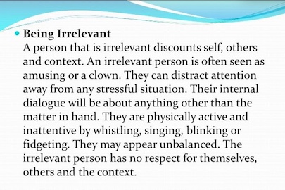 Being Irrelevant - The Distractor