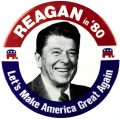 Reagan campaign button