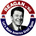 Reagan campaign button