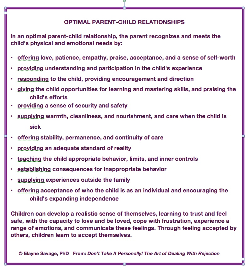 #152 OPTIMAL PARENT-CHILD RELATIONSHIPS